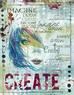 Art Journaling - Imagine - Scrap Art Studio Gallery.