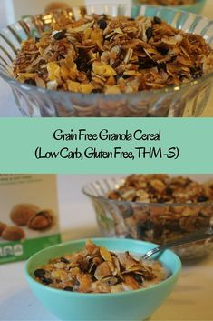 """Granola Cereal"" (THM-S, Grain Free, Low Carb, Gluten Free, Sugar Free)"