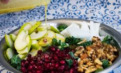 Kale Pear and Pomegranate Salad Recipe