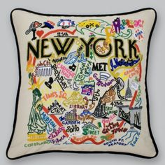 Love this! Would be a great throw pillow for our New York themed guest room! Plus, it would add that pop of color I need!