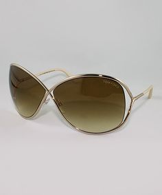 Gold Miranda Crossover Sunglasses | Daily deals for moms, babies and kids