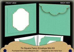 DGreen Dotty Fancy 7x7inch Easy Envelope Mini Kit on Craftsuprint - Add To Basket!