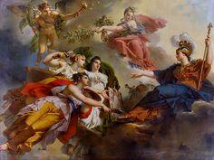 La France protégeant les beaux-arts sous les auspices de paix - Charles Meynier
