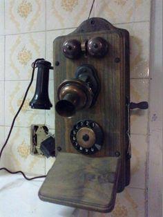 5f0f6642d7b (only Wood) Telefone De Parde Funciona Perfeito - R  700