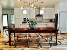 Our Classic Style Farmhouse Table is brought to life using 100+ year old reclaimed barn wood to recreate the look of an antique table that has been passed down for many generations. This classic table will make the perfect addition to your home to dine and celebrate holidays and special occasions with family and friends.
