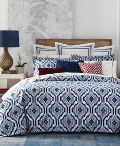Tommy Hilfiger Ellis Island Ikat Full/Queen Comforter Set | macys.com