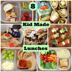 8 Healthy School Lunches Your Kids Can Make Themselves - this is great, get your kids to make their own lunch!!