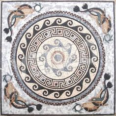 Mosaic roman pattern in the bathroom eventually. Mosaic Designs, Mosaic Patterns, Ancient Rome, Ancient Art, Mosaic Art, Mosaic Tiles, Verona, Art Antique, Mosaic Pictures