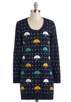 Rhythm of the Raindrops Sweater, #ModCloth