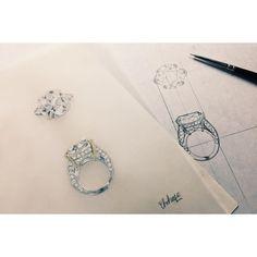 ✍️! #jewelry #diamond #jewelryrendering #ring #drawing #illustration #design #ジュエリー #デザイン画