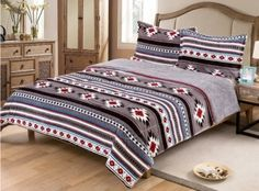 Queen Size Blanket, King Size Pillow Shams, Aztec Bedding, Aztec Designs, Bed Covers, Home Textile, Comforter Sets, 3 Piece, Comforters