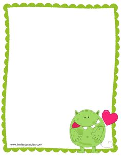Borders For Paper, Borders And Frames, Cute Owls Wallpaper, Monster Theme Classroom, Stationary Printable, Book Background, Creative Activities For Kids, Page Borders, Diy Envelope