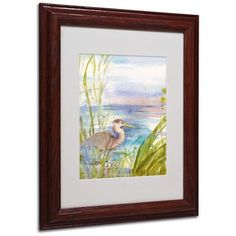 """Trademark Art """"Reflection"""" by Sheila Golden Framed Painting Print Size: 14"""" H x 11"""" W x 0.5"""" D, Frame: Brown - Beveled"""