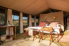 Nomad's Serengeti Safari Camp   Following the wildebeest migration route in Tanzania   Northern Tanzania   #Tanzania #LuxuryCamping
