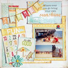 Simple Stories 100 Days of Summer Love the mix in of big and small project life type cards!