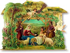 Vintage Christmas Nativity..German We'll have some vintage Advent calendars at the market
