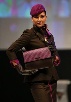 Etihad Airway's new designer cabin-crew uniforms - Yahoo Maktoob Entertainment