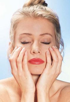 Ejercicios de relajación para terminar - Gimnasia facial para una piel más tersa