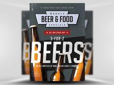 Vintage Beer Poster Template 3 - FlyerHeroes