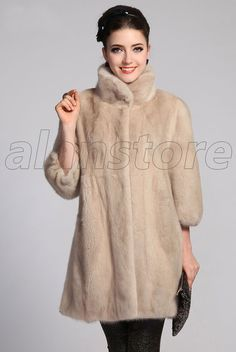 High-Grade Mink Fur Overcoat With The Latest Design, Luxury And Fashionable Mink Fur Stitched Making Craft Overcoat For Women