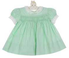 Vintage Polly Flinders Green Cotton Smocked Dress with Delicately Embroidered White Collar,Polly Flinders green smocked cotton dress,vintage baby girls green cotton smocked green cotton smocked baby dress,Polly Flinders dress,Polly Flanders smocked dress Toddler Dress, Toddler Outfits, Smocked Baby Clothes, Vintage Baby Dresses, Christening Outfit, Edwardian Dress, White Collar, Lovely Dresses, Green Cotton