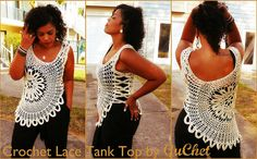 Crochet Top Pattern. Plus Sizes XL/1X (2X/3X, 4X). PDF download
