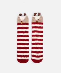Reindeer socks, nullHKD - null - Find more trends in women fashion at Oysho . Cosy Socks, Aw17, Reindeer, Gloves, Winter, Accessories, Brainstorm, Xmas, Christmas