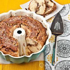 Sour Cream Cinnamon Coffee Cake? Yes, please! #Coffee #Cake #Baking #Recipe