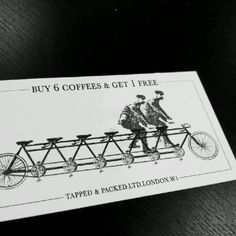 A Loyalty card with good design encouraging use and sharing. Plus not hard to reach the free coffee. This places the finish line within reach. Coffee Shop Bar, Coffee Shop Design, Cafe Design, Jar Packaging, Coffee Packaging, Restaurant Branding, Restaurant Ideas, Coffee Truck, Coffee Cards