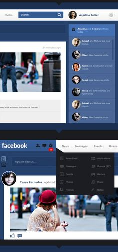 2.facebook redesign  6 Must See Facebook Redesign Concepts