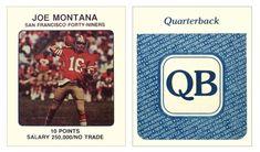 Joe Montana 1989 NFL Franchise Rohrwood, Inc. (Board Game)