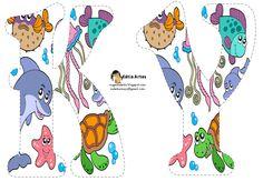 Alfabeto relleno con animales marinos. | Oh my Alfabetos!