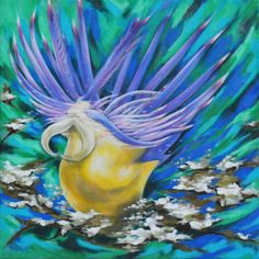 Pearls of the Sea 2 #sea #water #animal #green #fish #pearls #art #acryl #painting #canvas #living #bedroom #hall #decoration #tacx #artfinder