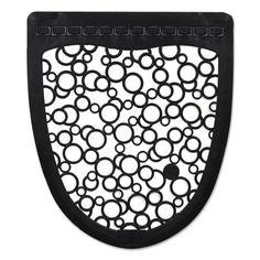 P-Shield Urinal Mat, 20 X 25, Black, 6/carton