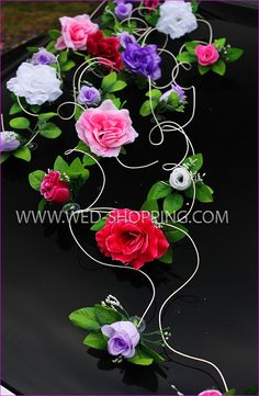 Blumenschmuck mit Saugnapf für Hochzeitsauto - Schönste