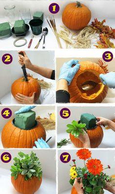pumpkin DIY centerpiece