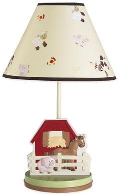 Kidsline Barnyard Nursery Lamp Base & Shade Farm Animal   baby ...