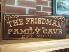 Personalized Family Cave Wooden Carved Custom Sign by TKWoodcrafts, $39.95