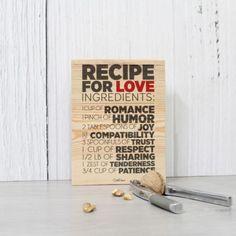 A receita do Amor chegou da melhor forma e carregada de tempero! Este é, sem dúvida alguma, o melhor presente para os apaixonados no geral <3
