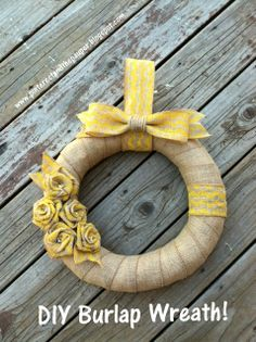 DIY Burlap Wreath. Fun for Fall!