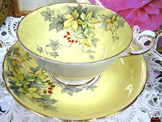 Paragon Striking Tea Cup and Saucer Duo