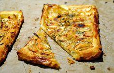hundertachtziggrad°: Ein echtes Prachtstück!  Birnen-Ziegenkäse-Tarte mit Thymian und Honig (für 2 Personen)