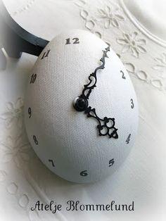 Cool clock egg!