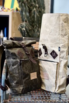 Men's Backpack, Canvas Backpack, Leather Backpack, Leather Bag, Tent Fabric, Waxed Canvas Bag, Project Ideas, Projects, Men Bags