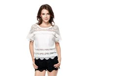 Fashion Dresses, Clothes For Women, Lace, Stuff To Buy, Tops, Outerwear Women, Shell Tops, Lace Making, Dressy Dresses