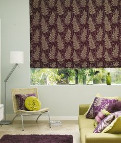 Our Plum Crumble Roman blind is perfect anywhere in the home, but will really shine with a blackout lining in the bedroom. The cosy shade will help turn your boudoir into a stylish place you'll love to spend time in. Skylight Blinds, Plum Crumble, Blinds For You, Purple Interior, Blackout Blinds, Roman Blinds, Cottage Style, Cosy, Shabby