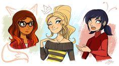 """probablyfakeblonde: """"Doodled the girls"""