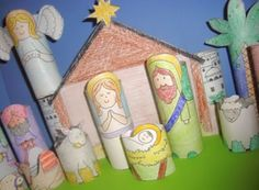 25 Days of Christmas Fun: Making Christmas Eve Special with Nativity Scenes, Bible Stories - Time 2 Save Workshops- i never put baby Jesus out til Christmas morn when he was born!