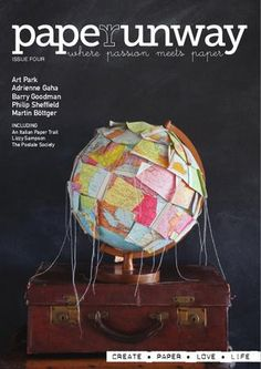 Paper Runway magazine This looks cool! Uses Of Paper, Paper Art, Paper Crafts, Runway Magazine, Magazine Cover Design, Magazine Covers, Map Globe, Paper Trail, Looks Cool