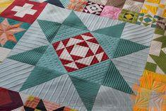 Piece N Quilt: Moda Modern Building Blocks Quilt - Custom Machine Quilting by Natalia Bonner